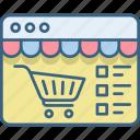 cart, item, items, website, buy, ecommerce, shopping