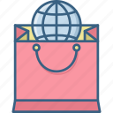 bag, internet, online, sale, seo, shopping, web icon