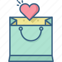bag, romantic, sale, shop, shopping, wishlist icon