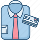 business, card, formal, man, pay, payment, shirt icon