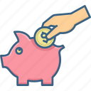 bank, coin, coins, dollar, finance, money, piggy icon