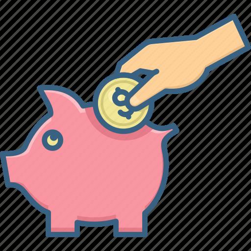 bank, coin, coins, dollar, finance, money, piggy icon