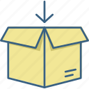 basket, box, gift, package, parcel, present, shipping icon