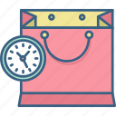 bag, sale, clock, timing, duration, timer, time