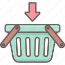 add, basket, cart, ecommerce, items, plus, shopping icon