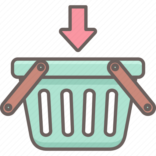 add, basket, cart, ecommerce, items, plus, shopping icon