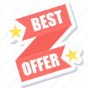 best, offer, shopping icon