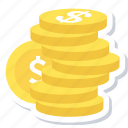 coins, money, dollar, finance, payment