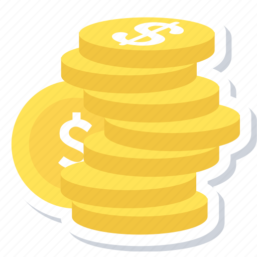coins, dollar, finance, money, payment icon