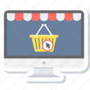 basket, cart, ecommerce, online, purchase, shop, shopping icon