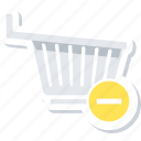 to, cart, eject, trolley, remove from cart