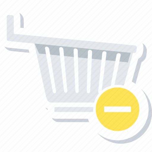 cart, eject, remove from cart, to, trolley icon