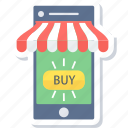 buy online, ecommerce, mobile, online shop, phone, shop, shopping icon