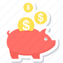 cashback, guardar, money, piggy bank, save, savings icon