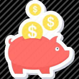 cashback, guardar, money, piggy bank, save, savings icon