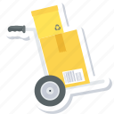 box, cargo, cart, delivery, package, shop, transport icon