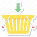 add, add to basket, basket, buy, shopping icon