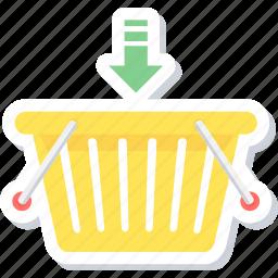 add, add to basket, basket, buy, shopping icon