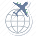 air, delivery, international, shipping, transport, transportation icon