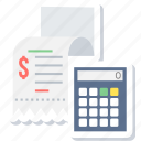 bill, billing, calculation, calculator, invoice, receipt icon