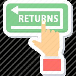 returns, shopping returns icon