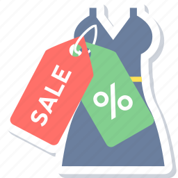 clothes, discount, percent, price, price tags, sale, shopping icon