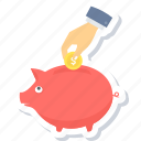 cash back, coin, money, payment, pig, piggy bank, saving icon