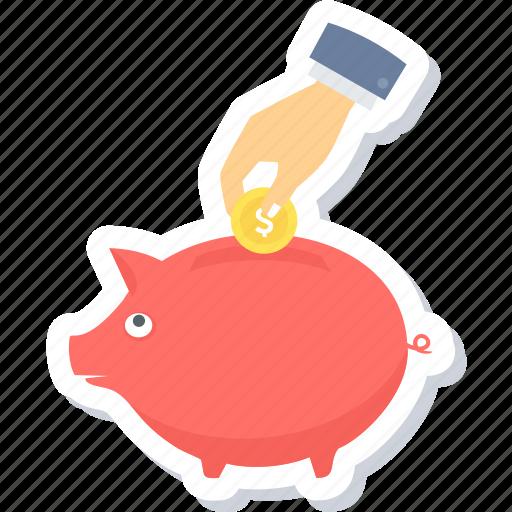 cash back, coin, money, payment, pig, piggy bank, saving icon