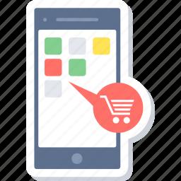 app, mobile, mobile app, online cart, online shopping, shopping, shopping app icon