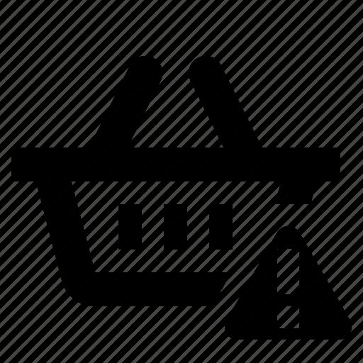 basket, business, cart, ecommerce, error, shopping icon