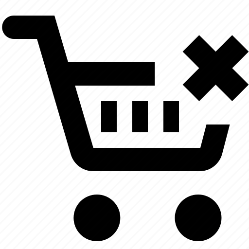 basket, business, cart, ecommerce, from, remove, shopping icon