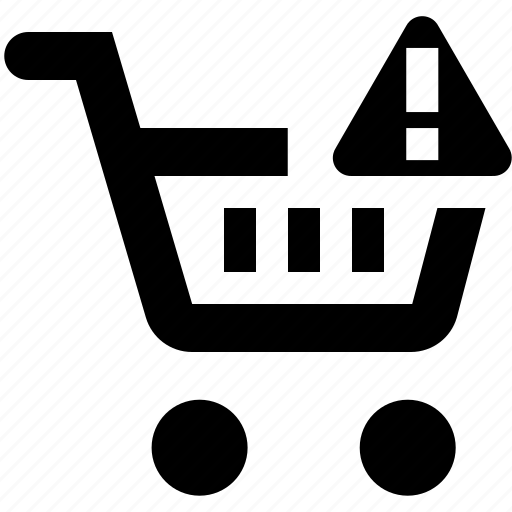 basket, business, cart, ecommerce, error, shopping icon