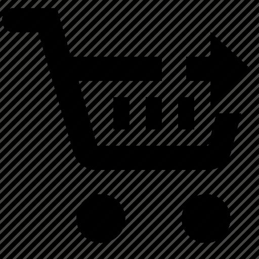 basket, business, cart, ecommerce, next, shopping icon