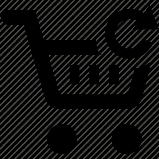 basket, business, cart, ecommerce, refresh, shopping icon