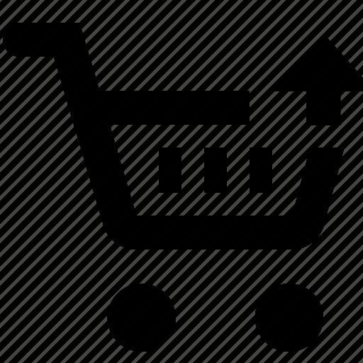 basket, business, cart, ecommerce, shopping, up icon