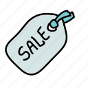 discount, label, price tag, sale, shopping icon