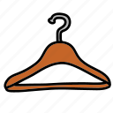 cloth, hang, hanger icon