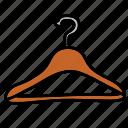 cloth, hang, hanger icon