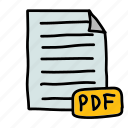 bill, file, invoice, pdf icon