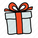 cadeau, gift, shopping icon