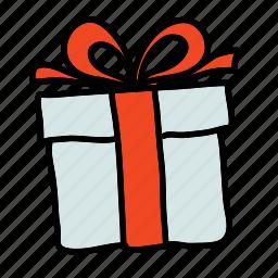 cadeau, gift, shopping icon