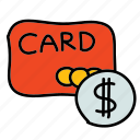 credit card, currency, dollar, pay, payment, shopping, usd icon