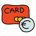 buy, cc, credit card, currency, euro, puchase, shopping icon