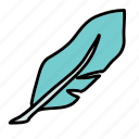 write, feather, letter icon