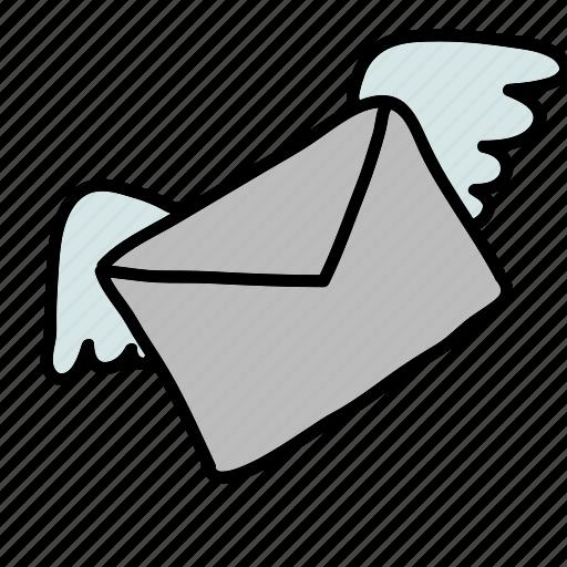 Письмо с крыльями картинки