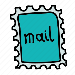 letter, mail, send, stamp icon