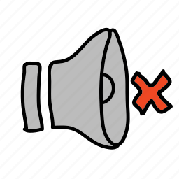 mute, no sound, sound icon