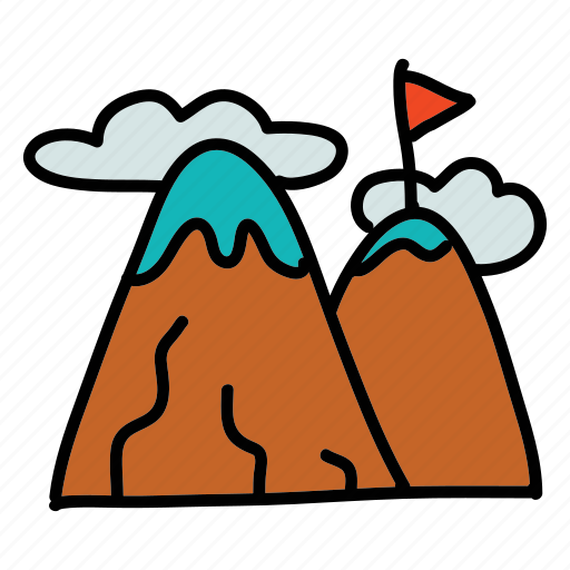 climb, high, marketing, mountain, reach, target icon
