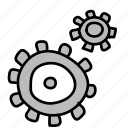 gear, gears, settings icon