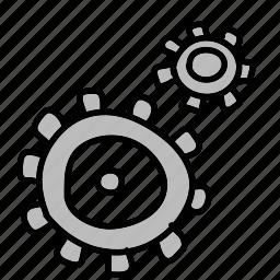 gear, gears, settings icon